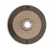 Rocky Mountain Hardware<br />E101 - Round Designer Escutcheon 3 1/2&quot;