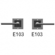 Rocky Mountain Hardware<br />E103/E103 Passage Spring Latch - 3&quot; X 3&quot; SQUARE DESIGNER TEXTURES BRONZE ESCUTCHEONS - PASSAGE SPRING LATCH