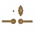 Rocky Mountain Hardware<br />E10820/E10820/IP10800 - 2 1/2&quot; Round Escutcheons - Briggs Collection - Privacy Mortise Bolt/Spring Latch