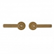 Rocky Mountain Hardware<br />E10820/E10820 Mortise Pass - 2 1/2&quot; Round Escutcheons - Briggs Collection - Passage Mortise Lock Set