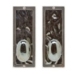 Rocky Mountain Hardware<br />E110/E110 Passage Spring Latch - 3&quot; X 8&quot; DESIGNER TEXTURES BRONZE ESCUTCHEONS - PASSAGE SPRING LATCH