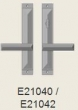 Rocky Mountain Hardware<br />E21040/E21042 Patio Trim - Mack Multi-Point Patio Set - 1 3/4&quot; x 11&quot; American Cylinder