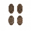Rocky Mountain Hardware<br />E30603/E30603/DB30690 - Corbel Arched Entry Set - 2 1/2&quot; x 4 1/2&quot;