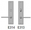 Rocky Mountain Hardware<br />E314/E313 - 2.5&quot; x 11&quot; Stepped Escutcheons - Privacy Mortise Bolt