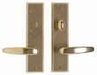 Rocky Mountain Hardware<br />E432/E431 - 2.5&quot; x 10&quot; Rectangular Escutcheon - Privacy Mortise Bolt
