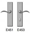 Rocky Mountain Hardware<br />E451/E453 Patio Trim - 2 1/2&quot; x 11&quot; rectangular Escutcheon american cylinder