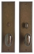 Rocky Mountain Hardware<br />E464/E463 - 3.5&quot; x 13&quot; Rectangular Escutcheon - Privacy Mortise Bolt
