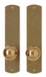 Rocky Mountain Hardware<br />E512/E512 - 2.5&quot; X 11&quot; CURVED ESCUTCHEONS - FULL DUMMY