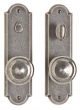 Rocky Mountain Hardware<br />E722/E723 - 2.5&quot; X 9&quot; ARCHED ESCUTCHEON - PRIVACY MORTISE BOLT