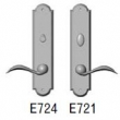 Rocky Mountain Hardware<br />E724/E721 - 2.5&quot; x 11&quot; ARCHED ESCUTCHEON - PRIVACY MORTISE BOLT