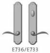 Rocky Mountain Hardware<br />E736/E733 Thumb Turn - Endura Trilennium Arched Multipoint Inactive/Thumb Turn Lever Set