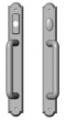 Rocky Mountain Hardware<br />E798/E797 - 1 3/4&quot; x 13&quot; American Cylinder Arched Sliding Door Trim - Entry