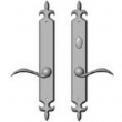 Rocky Mountain Hardware<br />E817/E818 - 2&quot; x 15&quot; AMERICAN CYLINDER FLEUR DE LIS MULTI-POINT SET - PATIO