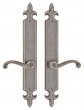 Rocky Mountain Hardware<br />E820/E820 - 2&quot; x 15&quot; FLEUR DE LIS ESCUTCHEON PASSAGE SET