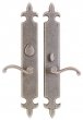 Rocky Mountain Hardware<br />E830/E831 - 3&quot; X 21&quot; FLEUR DE LIS ESCUTCHEONS - ENTRY