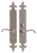 Rocky Mountain Hardware<br />E832/E831 - 3&quot; X 21&quot; FLEUR DE LIS ESCUTCHEON - PATIO