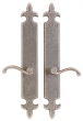 Rocky Mountain Hardware<br />E832/E832 - 3&quot; X 21&quot; FLEUR DE LIS ESCUTCHEONS - FULL DUMMY