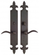 Rocky Mountain Hardware<br />E833/E831 - 3&quot; X 21&quot; FLEUR DE LIS ESCUTCHEON - PRIVACY MORTISE BOLT