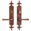 Rocky Mountain Hardware<br />E841/E841 RMH - 2.5&quot; x 15&quot; FLEUR DE LIS ESCUTCHEON PRIVACY SET