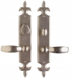 Rocky Mountain Hardware<br />E843/E842 - 2 1/2&quot; X 15&quot; FLEUR DE LIS ESCUTCHEONS - ENTRY
