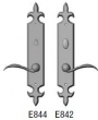 Rocky Mountain Hardware<br />E844/E842 - 2.5&quot; x 15&quot; FLEUR DE LIS ESCUTCHEON - PRIVACY MORTISE BOLT