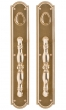 Rocky Mountain Hardware<br />G033/G033 - 3 1/2&quot; X 20&quot; ELLIS ESCUTCHEONS - DOUBLE CYLINDER DEAD BOLT