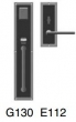 Rocky Mountain Hardware<br />G130 E112  - Entry Mortise Lock 3&quot; x 8&quot; interior Designer escutcheon