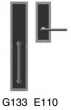 Rocky Mountain Hardware<br />G133 / E110  - Full Dummy 3&quot; x 8&quot; interior Designer escutcheon