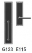 Rocky Mountain Hardware<br />G133/E115 - 3 1/2&quot; X 18&quot; EXTERIOR WITH 3&quot; X 10&quot; INTERIOR DESIGNER LEATHER ESCUTCHEONS - FULL DUMMY