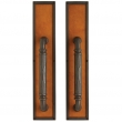 Rocky Mountain Hardware<br />G133/G133 - 3 1/2&quot; x 18&quot; DESIGNER LEATHER ESCUTCHEONS - DOUBLE GRIP DUMMY