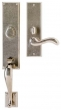 Rocky Mountain Hardware<br />G542/E421 - 3.5&quot; X 19 5/8&quot; EXTERIOR WITH 3&quot; X 10&quot; INTERIOR RECTANGULAR ESCUTCHEONS - ENTRY MORTISE LOCK