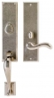 Rocky Mountain Hardware<br />G542/E463 - 3.5&quot; X 19 5/8&quot; EXTERIOR WITH 3.5&quot; X 13&quot; INTERIOR RECTANGULAR ESCUTCHEONS - ENTRY MORTISE LOCK