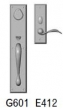 Rocky Mountain Hardware<br />G601/E412 - 3.5&quot; X 18&quot; EXTERIOR WITH 2.5&quot; X 8&quot; INTERIOR RECTANGULAR ESCUTCHEONS - ENTRY MORTISE LOCK