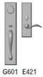 Rocky Mountain Hardware<br />G601/E421 - 3.5&quot; X 18&quot; EXTERIOR WITH 3&quot; X 10&quot; INTERIOR RECTANGULAR ESCUTCHEONS - ENTRY MORTISE LOCK