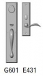 Rocky Mountain Hardware<br />G601/E431 - 3.5&quot; X 18&quot; EXTERIOR WITH 2.5&quot; X 10&quot; INTERIOR RECTANGULAR ESCUTCHEONS - ENTRY MORTISE LOCK