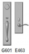 Rocky Mountain Hardware<br />G601/E463 - 3.5&quot; X 18&quot; EXTERIOR WITH 3.5&quot; X 13&quot; INTERIOR RECTANGULAR ESCUTCHEONS - ENTRY MORTISE LOCK