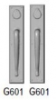 Rocky Mountain Hardware<br />G601/G601 - 3 1/2&quot; X 18&quot; RECTANGULAR ESCUTCHEONS - DOUBLE CYLINDER DEAD BOLT