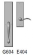Rocky Mountain Hardware<br />G604/E404 - 3.5&quot; X 18&quot; EXTERIOR WITH 3&quot; X 10&quot; INTERIOR RECTANGULAR ESCUTCHEONS - FULL DUMMY