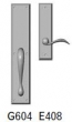 Rocky Mountain Hardware<br />G604/E408 - 3.5&quot; X 18&quot; EXTERIOR WITH 2.5&quot; X 10&quot; INTERIOR RECTANGULAR ESCUTCHEONS - FULL DUMMY