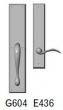 Rocky Mountain Hardware<br />G604/E436 - 3.5&quot; X 18&quot; EXTERIOR WITH 2.5&quot; X 13&quot; INTERIOR RECTANGULAR ESCUTCHEONS - FULL DUMMY