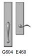 Rocky Mountain Hardware<br />G604/E460 - 3.5&quot; X 18&quot; EXTERIOR WITH 3.5&quot; X 13&quot; INTERIOR RECTANGULAR ESCUTCHEONS - FULL DUMMY