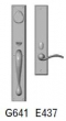 Rocky Mountain Hardware<br />G641/E437 - 2.75&quot; X 18&quot; EXTERIOR WITH 2.5&quot; X 13&quot; INTERIOR RECTANGULAR ESCUTCHEONS - ENTRY MORTISE LOCK
