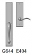 Rocky Mountain Hardware<br />G644/E404 - 2.75&quot; X 18&quot; EXTERIOR WITH 3&quot; X 10&quot; INTERIOR RECTANGULAR ESCUTCHEONS - FULL DUMMY