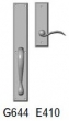 Rocky Mountain Hardware<br />G644/E410 - 2.75&quot; X 18&quot; EXTERIOR WITH 2.5&quot; X 8&quot; INTERIOR RECTANGULAR ESCUTCHEONS - FULL DUMMY