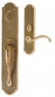 Rocky Mountain Hardware<br />G770/E721 - 3 1/2&quot; X 20&quot; EXTERIOR WITH 2 1/2&quot; X 11&quot; INTERIOR ARCHED ESCUTCHEONS - ENTRY MORTISE LOCK