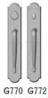 Rocky Mountain Hardware<br />G770/G772 - 3 1/2&quot; X 20&quot; ARCHED ESCUTCHEONS - DOUBLE GRIP DEAD BOLT