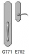 Rocky Mountain Hardware<br />G771/E702 - 3 1/2&quot; X 20&quot; EXTERIOR WITH 2 1/2&quot; X 9&quot; INTERIOR ARCHED ESCUTCHEONS - FULL DUMMY