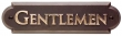 Rocky Mountain Hardware<br />NAMEPL-GENT - ROCKY MOUNTAIN NAMEPLATE GENTLEMEN