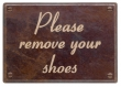 Rocky Mountain Hardware<br />PL200-C - ROCKY MOUNTAIN REMOVE SHOES PLAQUE CORONET FONT