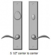 Rocky Mountain Hardware<br />Quickship in Silicon Bronze Dark  - Recangular Entry Deadbolt / Spring Latch Rectangular Escutcheon, 2 1/2 x 13in. with Beaver Tail Lever